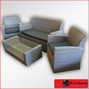 Polycanvas 4 piece Outdoor Patio Lounge Set-430
