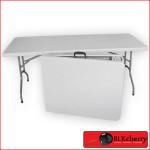 Fold up white Trestle Table-161