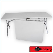 Fold up white Trestle Table-161