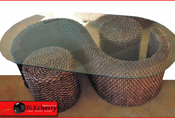 water hyacinth coffee table set - blkcherry lifestyle furniture
