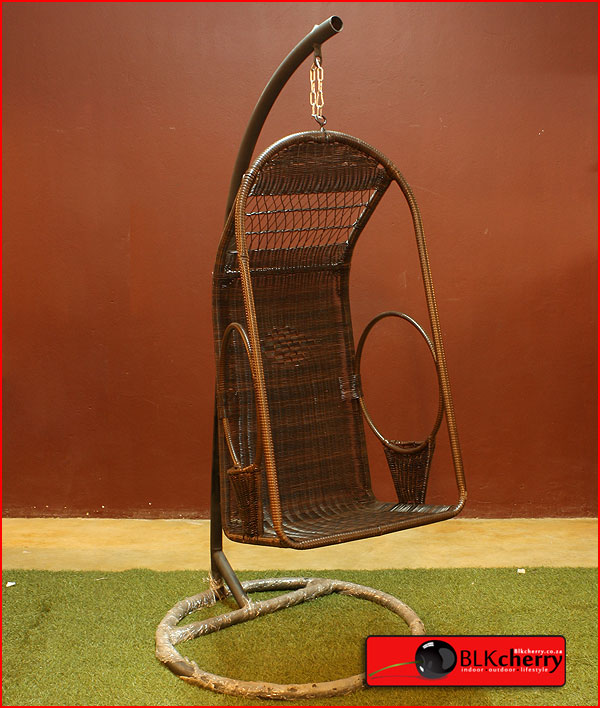 Poly Rattan Square Swing Chair-79