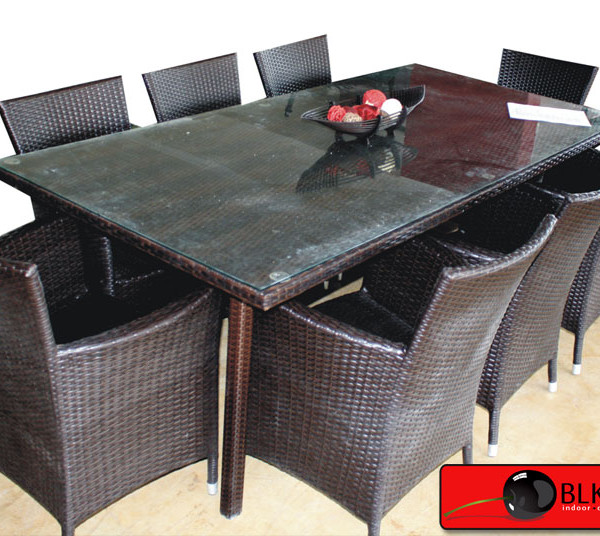 Rattan Dining Table Set-59