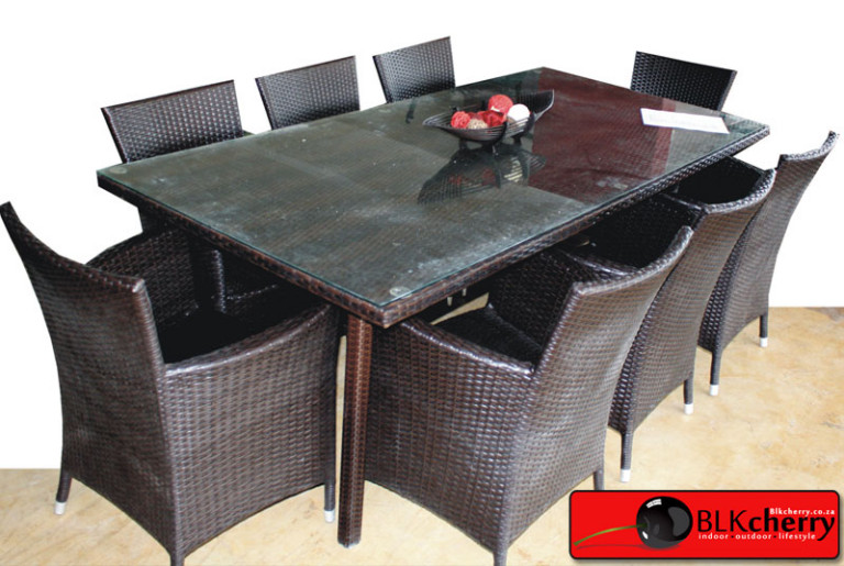 Rattan Dining Table Set-59