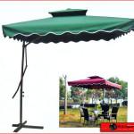 Large mechanical canvas umbrella-83