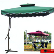 Large mechanical canvas umbrella-83