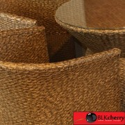 Brown Poly Rattan Outdoor Dining Table Set-159
