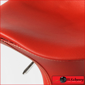 Red PU Leather Barstool-169