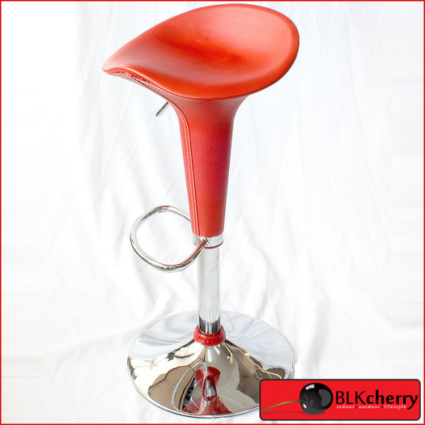 Red PU Leather Barstool-166