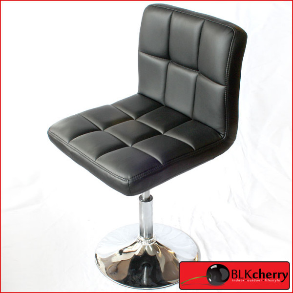 Black PU Leather Barstool-167