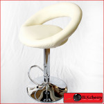 Cream Bar-stool with curved backrest-174