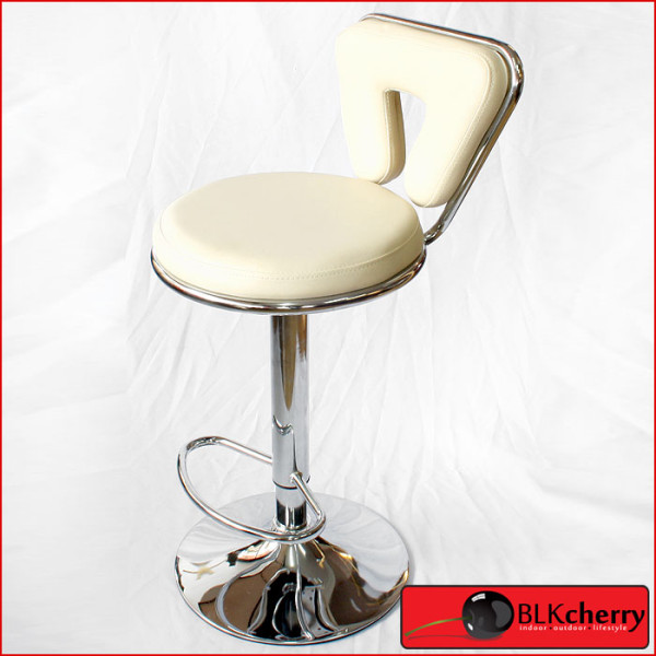 Cream Bar-stool with V backrest-175