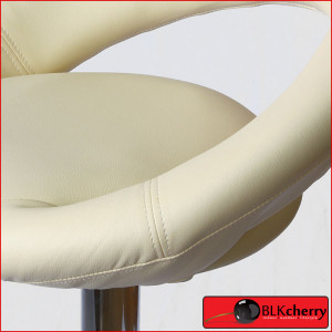 Cream Bar-stool with curved backrest-180
