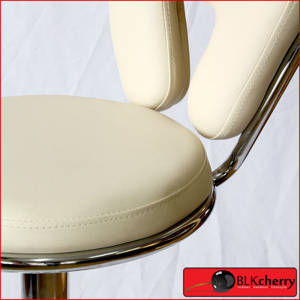 Cream Bar-stool with V backrest-178