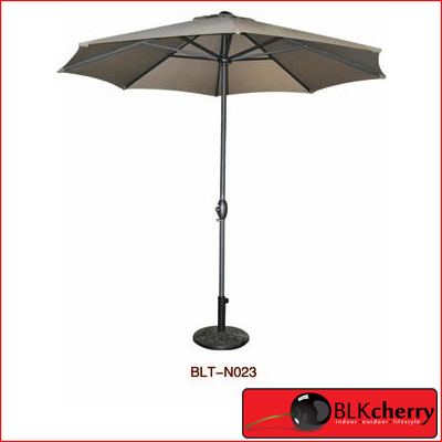 8 Sided Brown Umbrella with Base-241