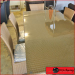 Poly Rattan Light Brown 6 Seater Dining Suite-228