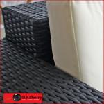 Black Poly Rattan 5 Seater Broad Arm Set-195