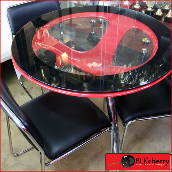 3 Seater Red Dining Table Set-254