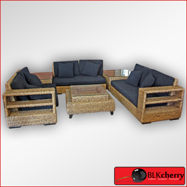 Water Hyacinth 6piece Premium Lounge Suite-350