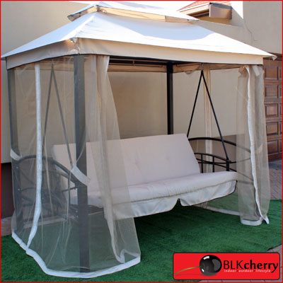 Mechanical Swing with canopy and curtains