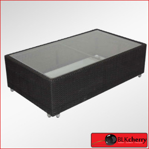 Cleo Black Coffee table with glass top-444