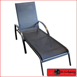 Steel Black Polymesh Pool Lounger-467