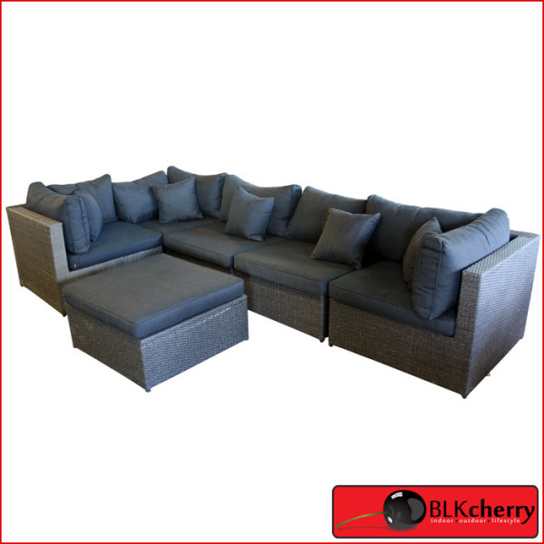 Poly Rattan 7 seater corner lounge set-465